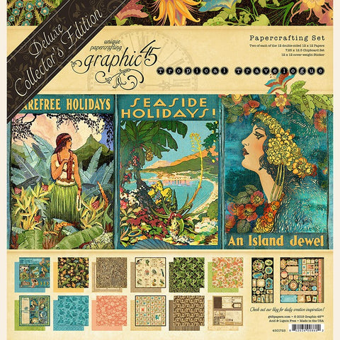 Graphic 45 - Tropical Travelogue - Deluxe Collectors Edition