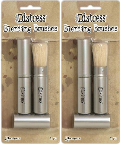 Tim Holtz Distress Blending Brushes - Two Packages - 4 Brush Bundle