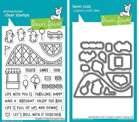 Lawn Fawn - Stamp & Die Set - Coaster Critters