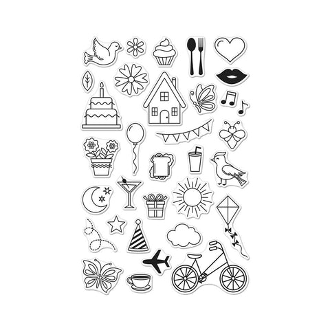 Hero Arts - My Monthly Hero Add-On - March 2018 - Everyday Icons Clear Stamp Set