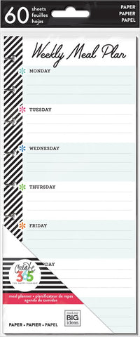 Happy Planner - Meal Planning - Half Sheet - Classic