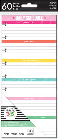 Happy Planner - Daily Schedule - Half Sheet - Classic