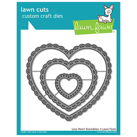 Lawn Fawn - Lawn Cuts - Lacy Heart Stackables