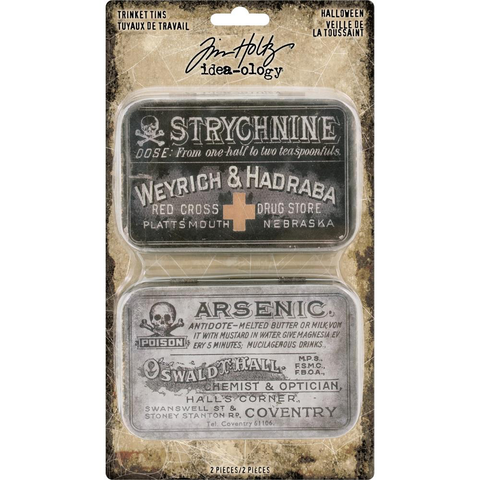 Tim Holtz Halloween 2018 Idea-Ology Halloween Metal Trinket Tins