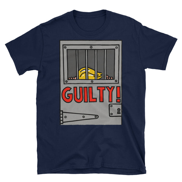 GUILTY!  - navy, short-sleeve, unisex t-shirt