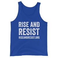 Rise and Resist URL - unisex, tank top