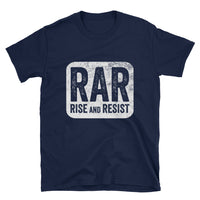 Rise and Resist Patch - navy, short-sleeve, unisex t-shirt
