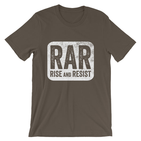 Rise and Resist Patch - green, short-sleeve, unisex t-shirt