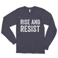 Rise and Resist - asphalt, long-sleeve, unisex t-shirt