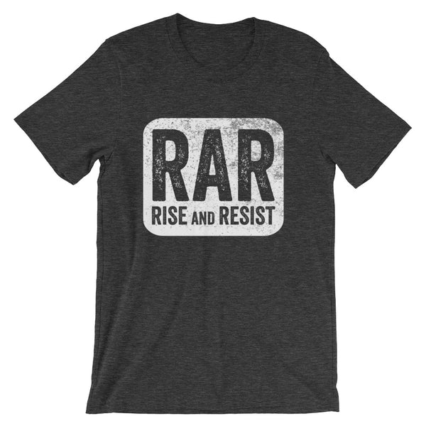 Rise and Resist Patch - grey, short-sleeve, unisex t-shirt