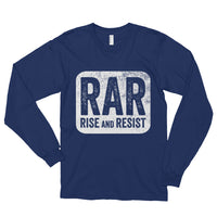 Rise and Resist Patch - navy, long-sleeve, unisex t-shirt