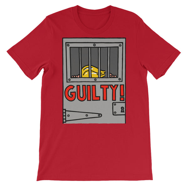 GUILTY!  - red, short-sleeve, unisex t-shirt