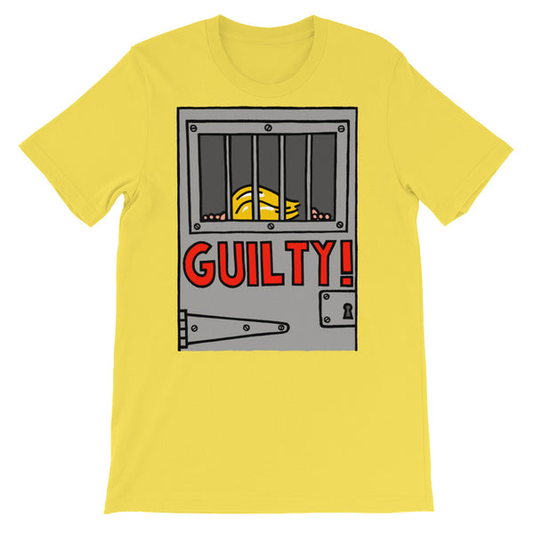 GUILTY!  - yellow, short-sleeve, unisex t-shirt