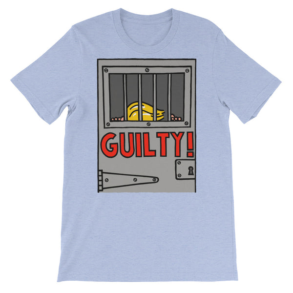 GUILTY!  - heather blue, short-sleeve, unisex t-shirt