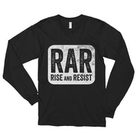 Rise and Resist Patch - black, long-sleeve, unisex t-shirt
