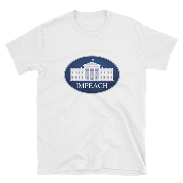 Impeach - white, short-sleeve, unisex t-shirt