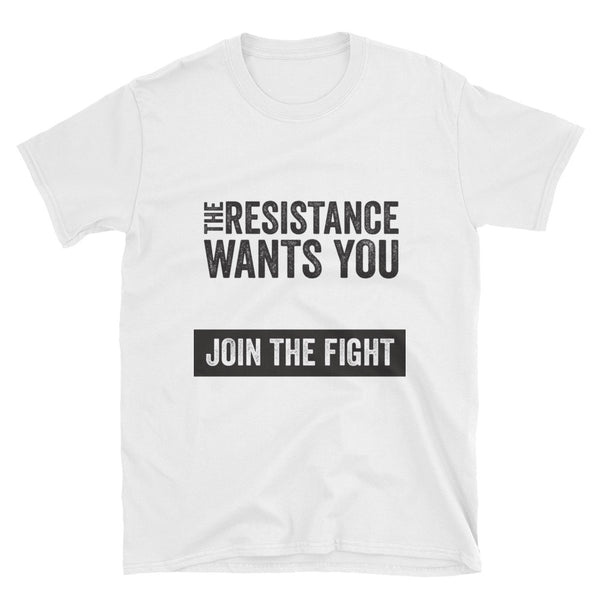 The Resistance Wants You - white, short-sleeve, unisex t-shirt