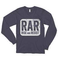 Rise and Resist Patch - asphalt, long-sleeve, unisex t-shirt