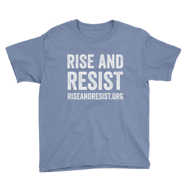 Rise and Resist URL Youth & Kids Short Sleeve T-Shirts