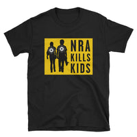 NRA Kills Kids - black, short-sleeve, unisex t-shirt