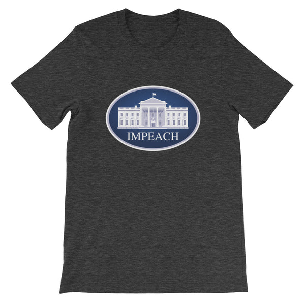 Impeach - grey, short-sleeve, unisex t-shirt