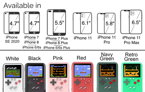 Playable Retro Gameboy Nostalgic Gaming 36 Color Games iPhone 11 11 Pro Max XR 7 8 SE 2020 7+ 8+