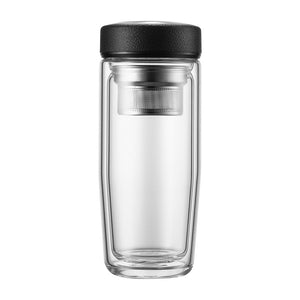 VOYAGER Serenity Double Wall Glass Tea Tumbler
