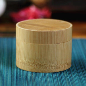 TeaESSENTIALS Mini Bamboo Tea Canister