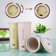 ECO Collection Wheat Straw Plastic Double Wall Coffee/Tea Cup With Rotating Lid