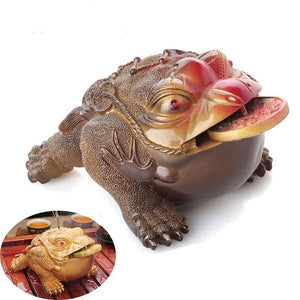 TIMELESS Traditions Color-Changing Lucky Money Toad Tea Pet