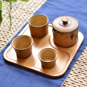 EARTH Collection Small Travel Square Tea Serving Tray