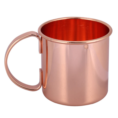 TeaHOME Copper-Plated Stainless Steel Drinking Cup with Handle