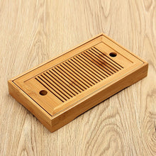 TeaHOME Bamboo Ventilated Drip-Catcher Serving Tray
