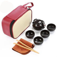 VOYAGER Collection Full Service 5-Piece Travel Tea Set w/ Carrying Case
