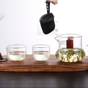 VOYAGER 3 in 1 Portable Glass Tea set w/ Travel Bag