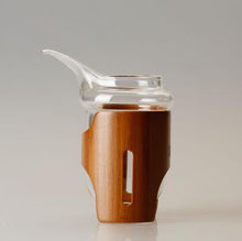 TeaHOME Elephant Trunk Glass & Bamboo Decanter