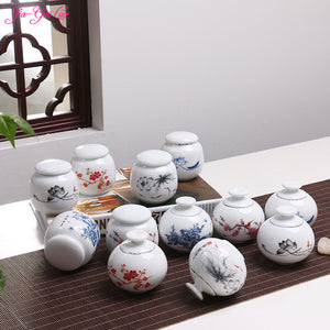 Compact Hand-Painted Tea Storage Pod