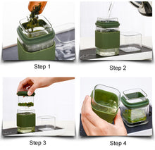 TEA FOR ONE Square Glass Travel Tea Set w/ Case