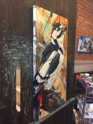 Proud Woodpecker 24x48""