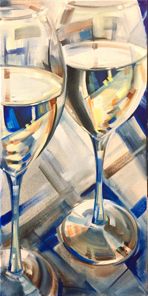Prosecco at the Uffizi gallery in Florence 10x20""
