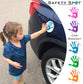 Safety Spot ™ MAGNET - Kids Handprint for Car Parking Safety - WHITE Background