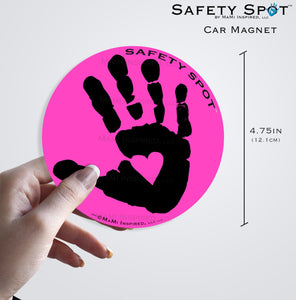 Safety Spot ™ MAGNET - Kids Handprint for Car Parking Safety - BLACK Handprint - Safety Spot