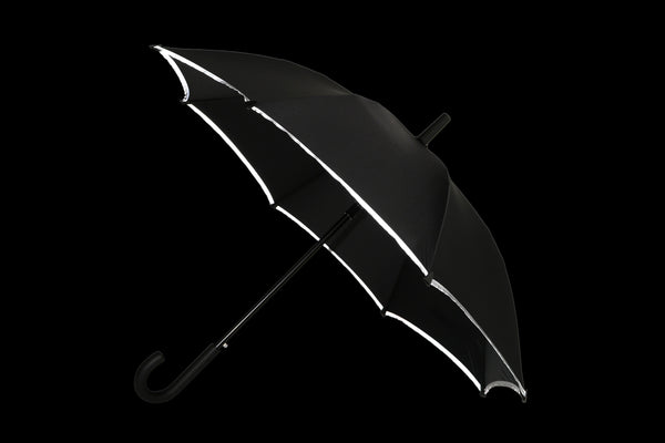 Classic Long Umbrella with Reflective Trim