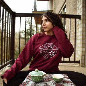 Rose Heart Gaiwan Crewneck Sweater