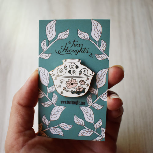 Flower Gaiwan Enamel Pin