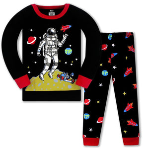 Jumping Meters New Arrival Baby Girls Clothing Sets Space Man Boys Girls Pyjamas Fashion Home Clothes Kids Sleepwear
