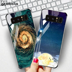 Tempered Glass Case For Samsung Galaxy S10 Cases Star Space Fundas Samsung Note 20 S21 Ultra S20 FE 10 Lite S8 S9 Plus Covers