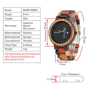2018 Unique Mixed Colour Wooden Men Watches