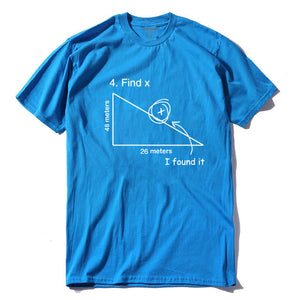 Find X t shirt funny math shirt