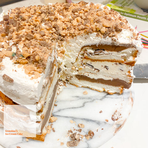 BelleStyle Grandma's Ice cream Cake